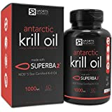 Antarctic Krill Oil (Double Strength) 1000mg per softgel with Omega-3s EPA, DHA and Astaxanthin | 60 Liquid Softgels - 2 Month Supply