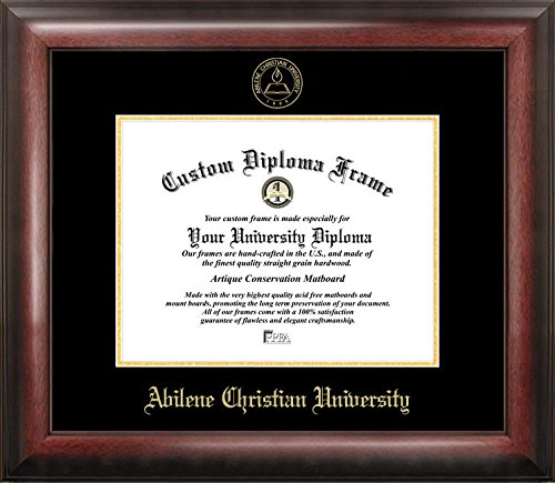 Abilene Christian University Diploma Frame | Finest Hardwood Frame | Satin Mahogany Finish | Perfect Graduation Gift For The College Graduate by Diploma Frame Outlet