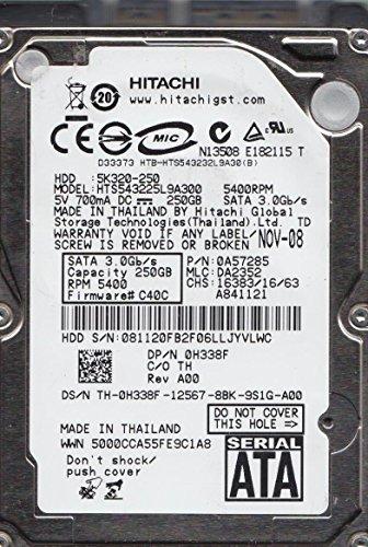 HTS543225L9A300, PN 0A57285, MLC DA2352, Hitachi 250GB SATA 2.5 Hard Drive