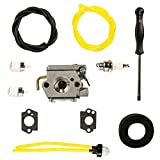 Woworld 753-04408 753-04144 Carburetor with Adjustment Tool Fuel Line Kit for MTD Yard Machine Trimmer Y28VP YM300 Y765 Y700 Y700VP Walbro WT-682-1 WT-682 Weed Eater Carb Kit