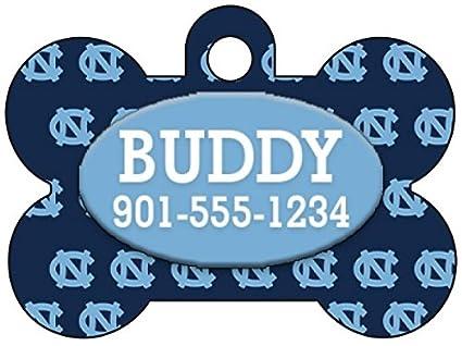 3de5dda7d Amazon.com   UNC Tar Heels Dog Tag Pet Id Tag Personalized w  Name ...