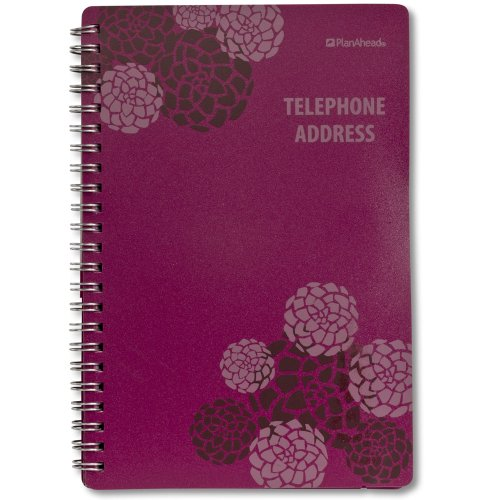 Plan Ahead See It Bigger Telephone/Address Book, Large Print, Assorted Colors, Color May Vary (70369C)