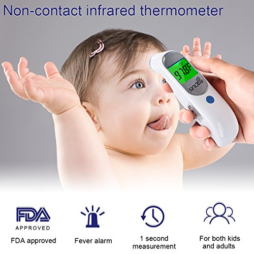 Baby Forehead Thermometer, Digital Infrared Medical Thermometer - FDA Approved Non Contact Digital Thermometer for Baby, Kids, Infant and Adults by SinoPie (Image #5)