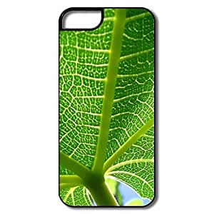 IPhone 5/5S Hard Plastic Cases, Leaf Veins White/black Cover For IPhone 5 by runtopwell