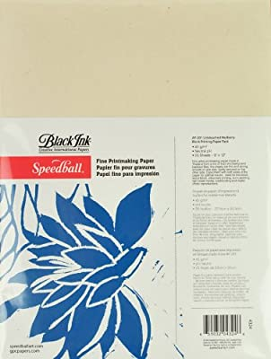 Speedball 9-Inch-by-12-Inch Fine Printmaking Paper, 25 Sheets Pack by Speedball Art Products Company