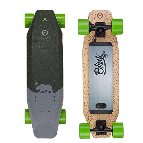 ACTON Blink S | Back to School Special | Powerful Electric Skateboard for College | 7 Mile Range | 15 MPH Top Speed | with LED Lights | 3 Ride Modes | Bluetooth Remote Control Included