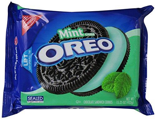 Oreo Cool Mint Sandwich Cookies, 15.25 ounce