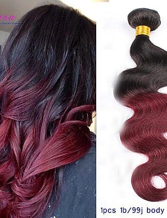 whh/pelo cabello Ombre Borgoña Virgen Ombre peruana ...