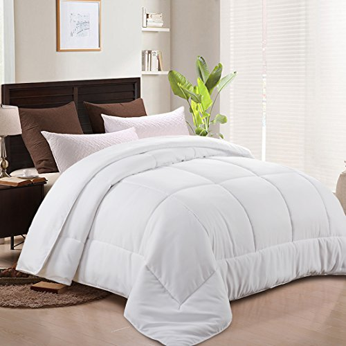 MEROUS Comforter Goose Down Alternative Duvet Insert -Hypoallergenic and Lightweight Luxury Hotel Collection(King/California King,White)