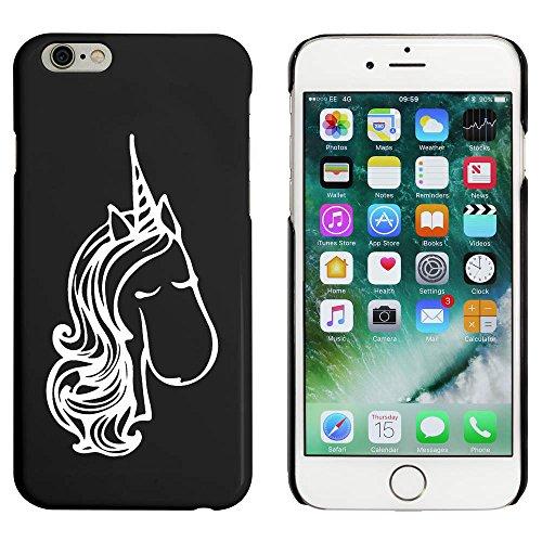 Noir 'Visage de Licorne' étui / housse pour iPhone 6 & 6s (MC00051989)