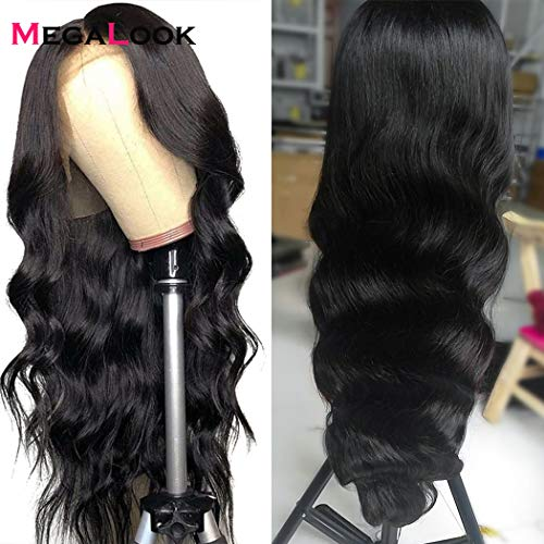 Megalook 360 Lace Frontal Wigs Human Hair Wigs 20inch Body Wave Lace Front Wigs Pre Plucked Hairline Human Hair Lace Front Wigs 150% Density