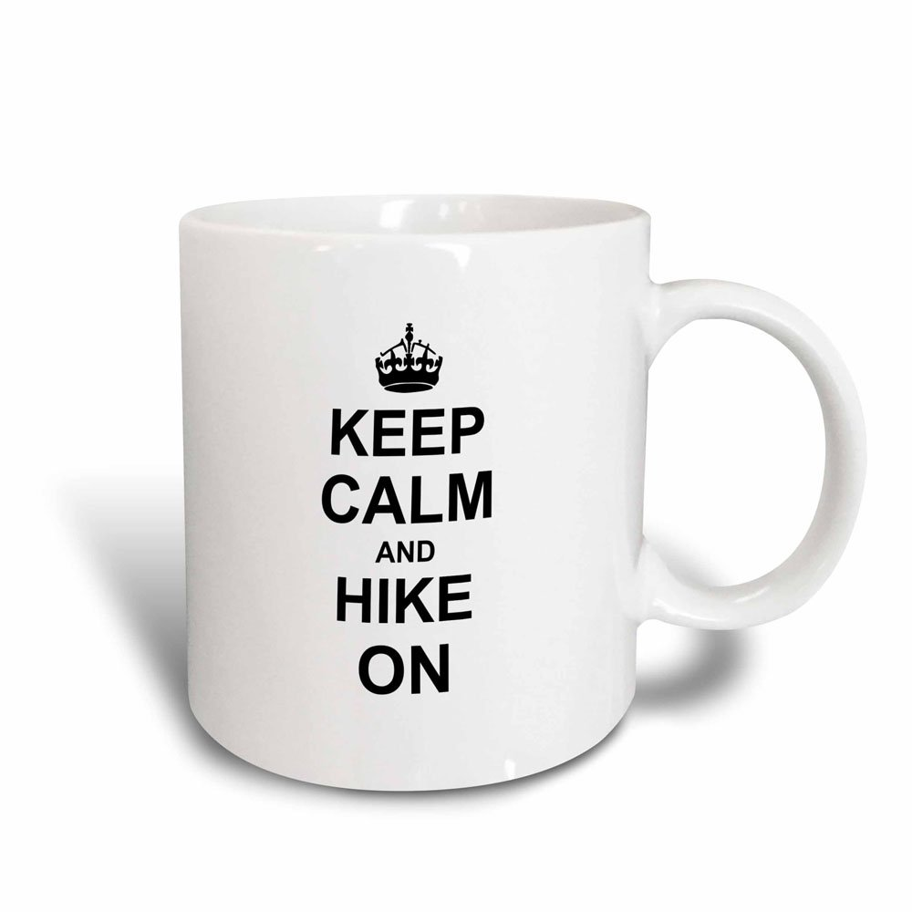 carry on hiking rambling Keep Calm and Hike on mug/_157733/_3 3dRose InspirationzStore Typography 11oz Magic Transforming Mug black fun funny humor humorous Hiker gifts