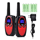 #6: Walkie Talkies for Kids, Funkprofi 2 Way Radios Toy Walkie Talkie 22 Channels 3 Miles with Rechargeable Batteries for Outdoor Adventures, Pack of 2 (Red)