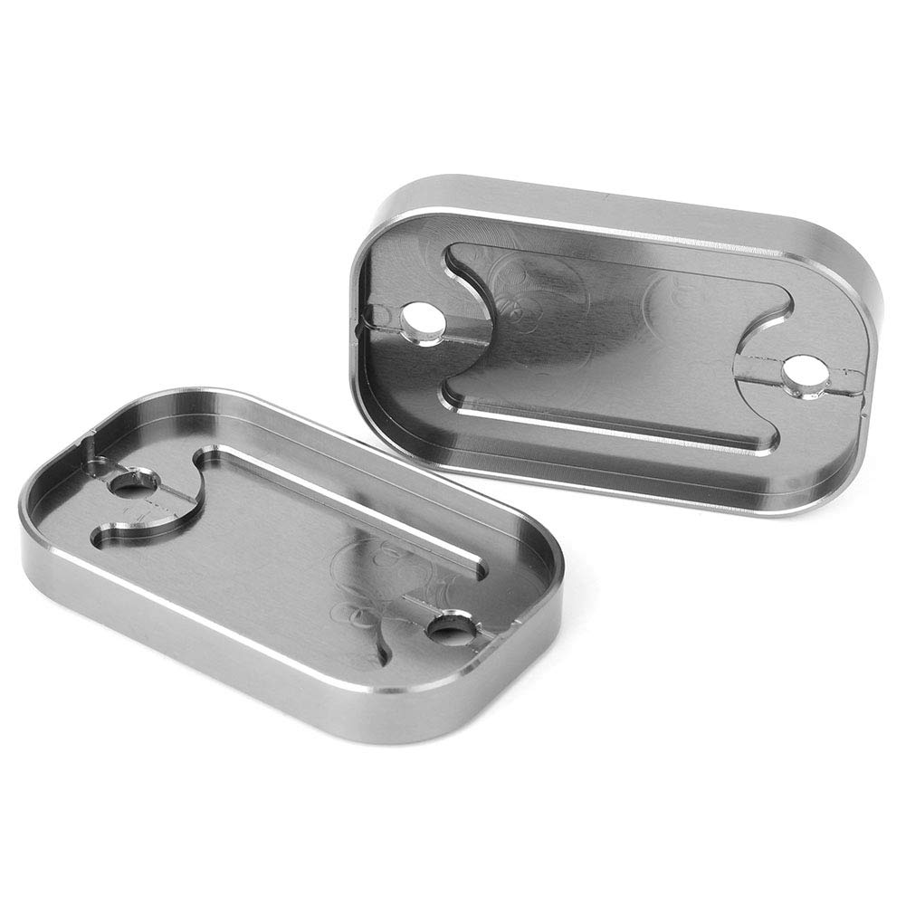 GZYF Motorcycle Pair of Front Brake Fluid Reservoir Caps Cover Compatible with Yamaha NMAX 155 2015-2019 Titanium
