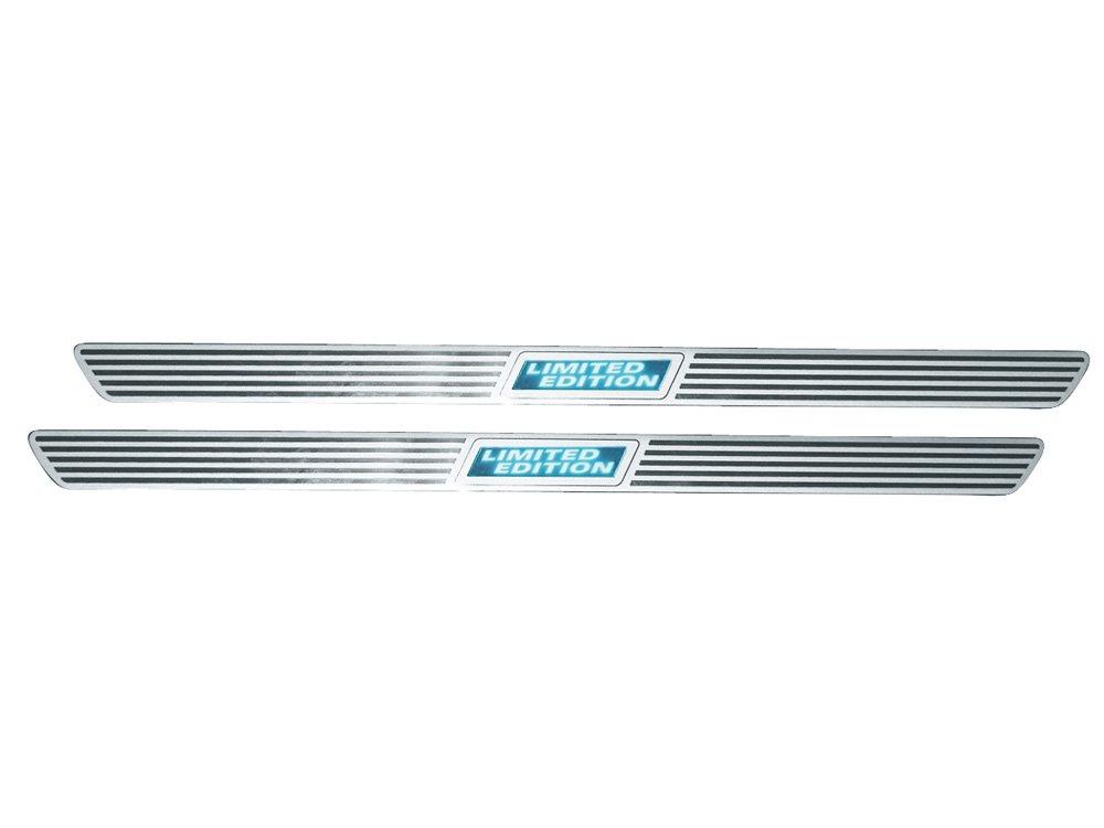 Eufab 30205 - Embellecedores de aluminio para marco interior de a puerta, color plateado y azul: Amazon.es: Coche y moto