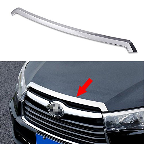 Abs Cover - Fit for Toyota Highlander 2015 2016 2017 2018 2019 Chrome Front Hood Grill Cover Bonnet Trim