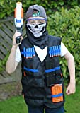 GFU Tactical Vest Jacket Kit with 16pcs Blue Darts + Protective Goggles Glasses + 5-darts 11-Darts Quick Reload Clip + Face Tube Mask + Small Pendant (Gun Not Included)
