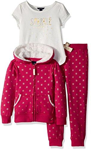 Nautica Girls Hoodie, Knit Top & Fleece Jogger