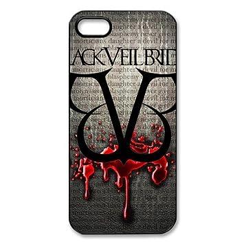 size 40 e8cdb 055d7 New style Black Veil Brides Iphone 5/5S Hard Cover Case: Amazon.co ...