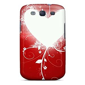 Galaxy S3 Case Cover - Slim Fit Tpu Protector Shock Absorbent Case (heart Valentine)