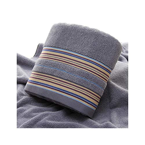 Moange 1pcs Brown Bath Towels for Adults Kids Cotton Soft Jacquard Sheared Striped Hand Face Beach Towel Absorbent Bathroom Product