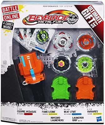 Paquete de la caja 4 Beyblade Metal Furia Top último sistema Gift ...