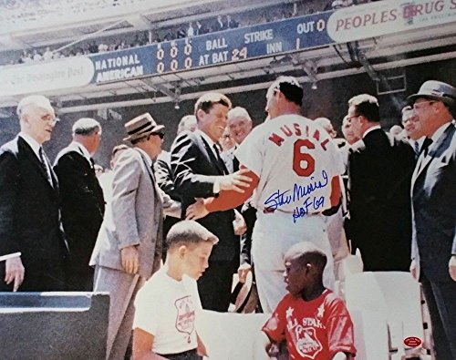Stan Musial Autographed St. Louis Cardinals 16x20 Photo with JFK HOF 69 Musial COA (Merchandise Musial Stan)