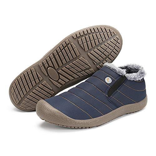Fhcgmx Botas Tobillo Navidad Zapatos Resbalón De Plana Nieve nbsp; nbsp; Hombre Blue nbsp;botas nbsp;impermeables Hombre Invierno Para Calcetines Cálidas Botines nbsp;botas En Plataforma rrq7dgnw