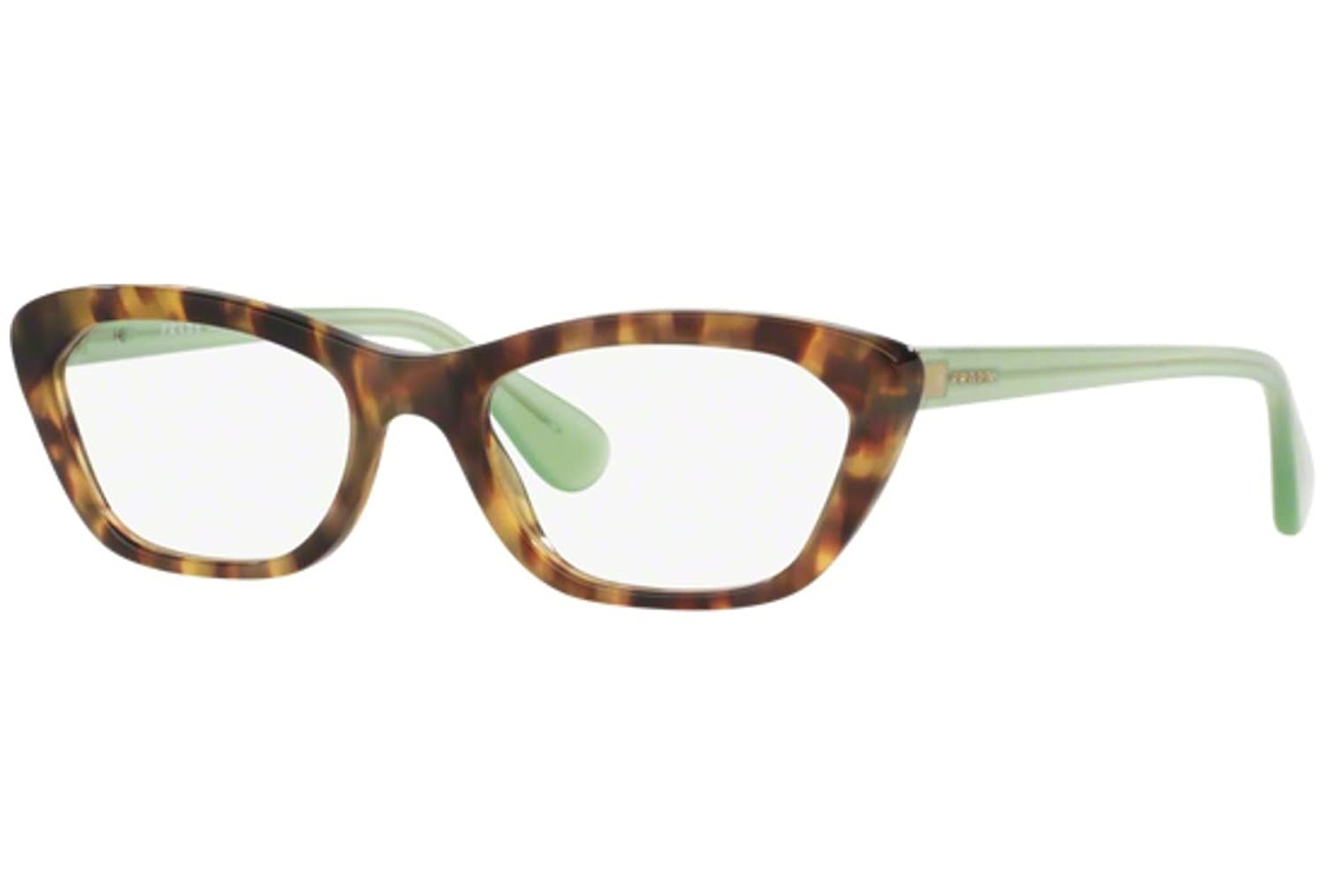 Eyeglasses Prada PR 3QV UEZ1O1 SPOTTED BROWN GREEN