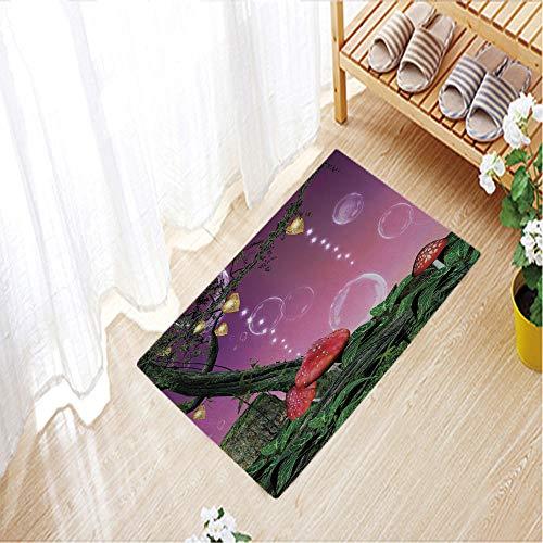 Outdoor Indoor Door Mats Thin Non Slip Carpets for Front Door Kitchen Bedroom Garden,31.5