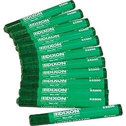 DIXON TICONDEROGA 52200 522 Green Lumber Crayon (Price is for 12 Marker/Dozen)