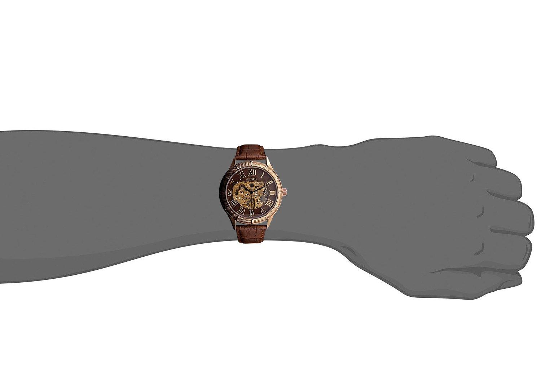 SEWOR Glass Coating Blue Skeleton Transparent Mechanical Steel Case Leather Watch