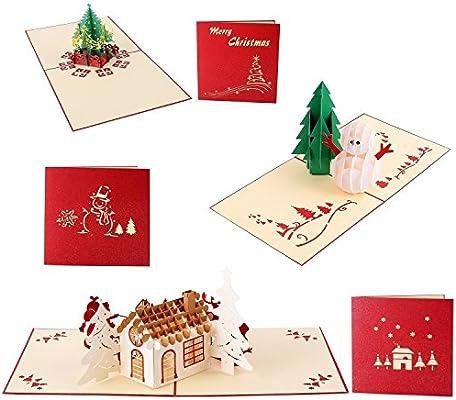 Navidad 3d tarjetas de felicitación,Joseche 3d Pop-up tóner,Tarjetas de Navidad el día de Navidad Tarjeta de felicitación de año nuevo de felicitación ...