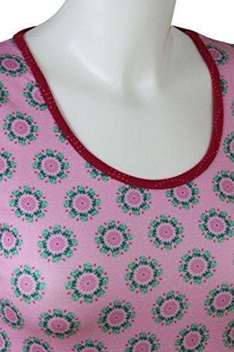 fashion4EVA Kurzarm-Rundhalsshirt Elefanten pastel lavender Made in Germany