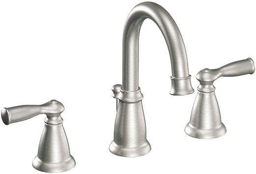 Chrome Moen WS84924 Two-Handle High Arc Bathroom Faucet