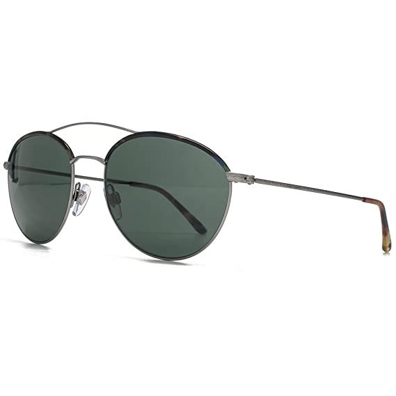 7485e3bc27b Giorgio Armani Frames of Life Double Bridge Round Sunglasses in Matte  Gunmetal AR6032J 300371 55 55 Green  Amazon.co.uk  Clothing