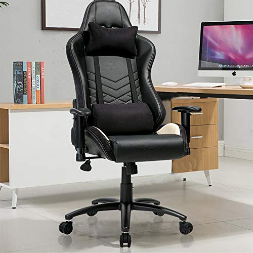 Merax Office Chair Computer Gaming Desk Chair Racing Style Ergonomic Design Office Chair (Black)