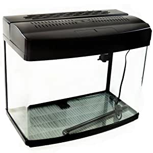 Black satin 17 gallon fish tank aquarium for Amazon fish tank filter
