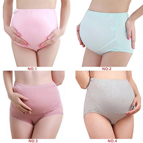 2c3e85a00 Befaith 3pcs maternidad ropa interior algodón cintura alta Beifs para las mujeres  embarazadas Pantalones Maternales Bragas