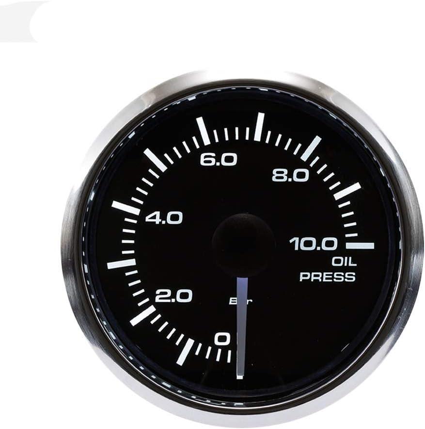 MOTOR METER RACING 2 Digital Oil Pressure Gauge PSI Blue LED Display Waterproof Pin-Style Install Includes Sensor
