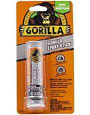 Gorilla All Purpose Epoxy Putty Stick, Adhesive, Sealer, Waterproof, Non-Rusting, Hand-Mixable, 10 Min. Set Time, 2 ounce Tube, Gray, (Pack of 1), 4261702