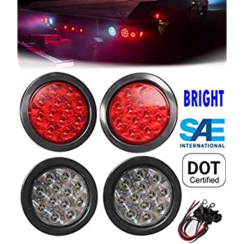 """2 X AMERICAN SUPERLITE 4/"""" SL4000 STOP TURN AND TAIL LIGHTS"""