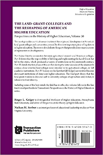 on sale The Land-Grant Colleges and the Reshaping of American Higher  Education (Perspectives 31116a3a6658d