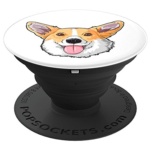 Corgi Head Funny Dog Meme Puppy Lovers Gift Kids Boys Girls - PopSockets Grip and Stand for Phones and Tablets -
