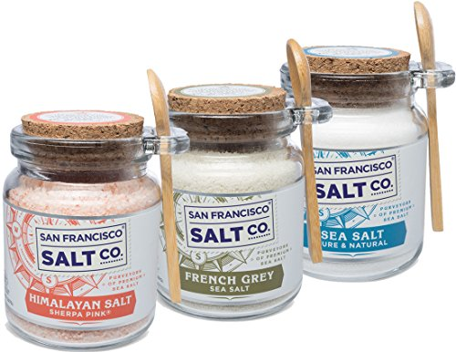 8oz Chef's Jar 3 Pack: Himalayan Salt, French Grey Salt, Pacific Ocean Salt