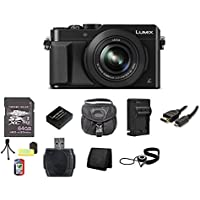 Panasonic LUMIX DMC-LX100 Digital Camera (Black) 64GB Bundle 5