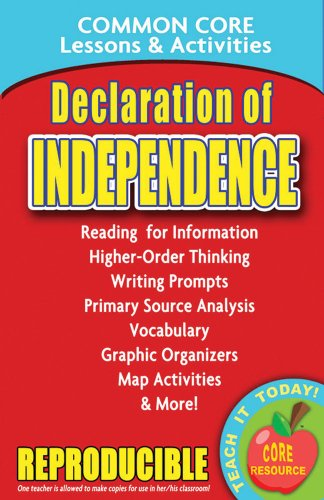 Declaration of Independence - Common Core Lessons and Activities