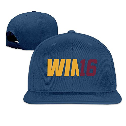 playoffs-win-16-solid-snapback-baseball-hat-cap-one-size-navy