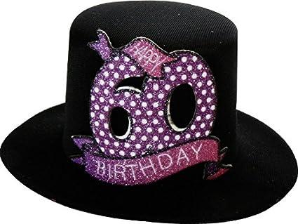 Michel Toys - Sombrero de Fiesta con Clip para 60 cumpleaños 64909e0c1f9