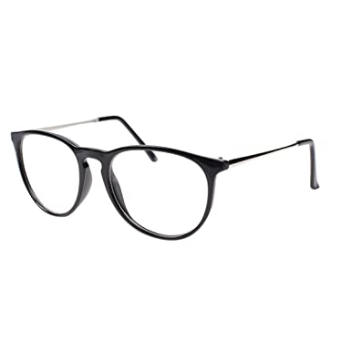 110a23c5ea Godea Women s Fashion Optical Glasses Eyewear Unisex Vintage Round Clear  Lens Frame Metal Legs Glasses